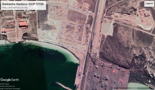Saldanha Harbour used Drone survey 2020