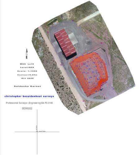 Saldanha DRONE Garnet stockpile Oct 2020